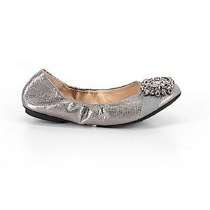 Silver, sparkly Adrienne Vittadini ballet flats